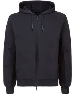 Washed Cotton Zip-up Hoodie