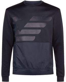 Neoprene Nylon Panel Logo Sweatshirt