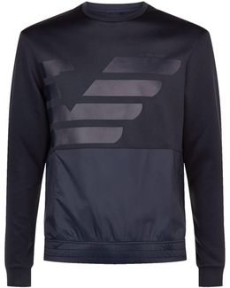 Neoprene Nylon Panel Logo Sweatshirt
