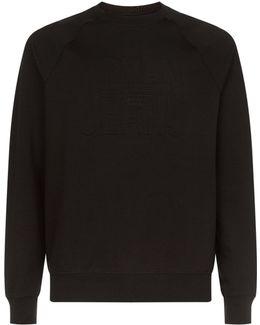 Debossed Logo Sweater