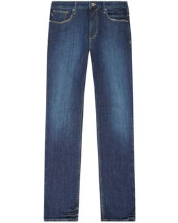 J06 Washed Straight Jeans