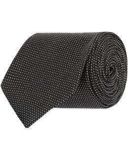 Herringbone Spot Tie