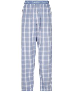 Checked Cotton Lounge Trousers