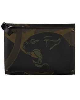 Bonded Leather Panther Pouch