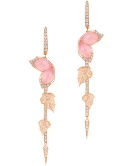 Loves Me Not Crystal Haze Long Earrings