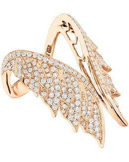 Magnipheasant Pav Open Feather Ring