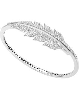 Magnipheasant Pavé Open Feather Bracelet