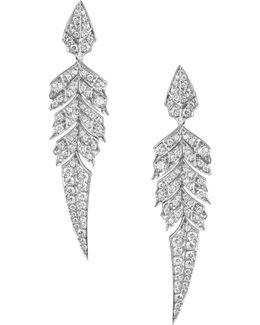 Magnipheasant Pavé Short Earrings