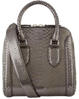 Medium Heroine Python Bag