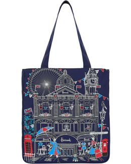 Embroidered London Sw1 Tote Bag