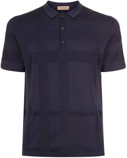 Textured Check Polo Shirt