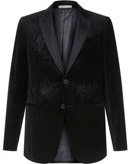 Textured Velvet Blazer