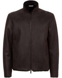 Shearling Caban Leather Jacket