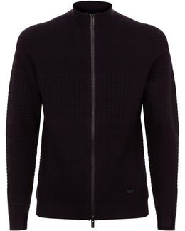 Knitted Zip Front Cardigan
