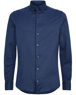 Denim Effect Casual Shirt