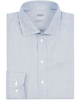 Diagonal Dash Formal Shirt