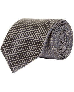 Diagonal Rectangle Silk Tie