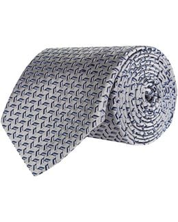 Floating Rectangles Silk Tie