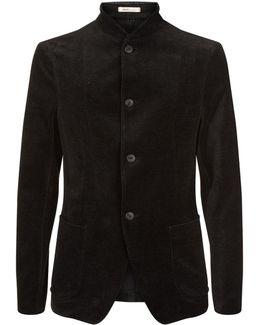 Velvet Herringbone Jacket