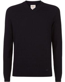 Fine Knit Herringbone Sweater