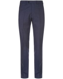 Pique Texture Wool Trousers