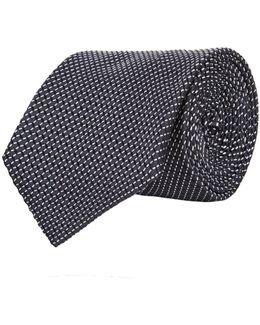 Split Stripe Silk Tie