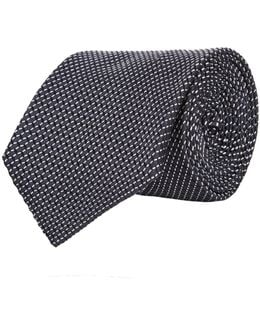 Split Stripe Silk Tie