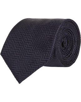 Zig Zag Silk Tie