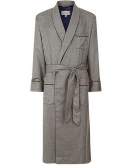 Herringbone Cashmere Dressing Gown