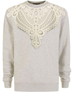 Embroidered Cut-out Sweatshirt