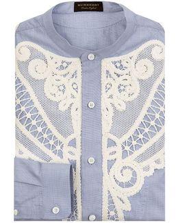 Embroidered Shawl Shirt