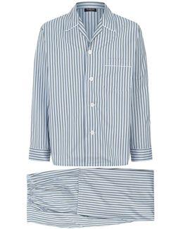 Multi-stripe Pajama Set