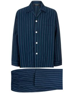 Colourblock Flannel Pajama Set