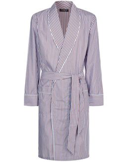 Contrast Stripe Robe