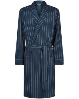 Colourblock Flannel Robe