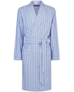 Woven Herringbone Stripe Robe