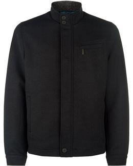 High Neck Textured Jacket