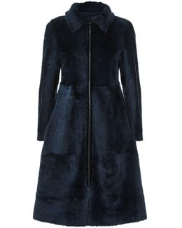 Reversible Shearling Princess Coat