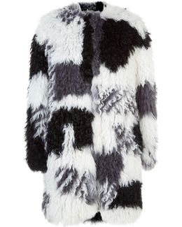 Shaggy Shearling Coat