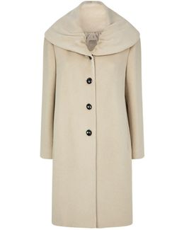 Oversized Shawl Collar Coat