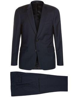 Tonal Stripe Wool Suit