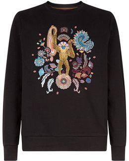 Embroidered Monkey Sweatshirt