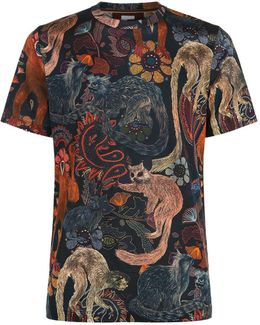 Men's Slim-fit 'monkey' Print T-shirt