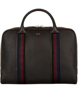 City Webbing Leather Briefcase