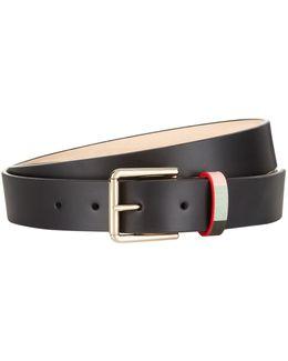 Refresher Stripe Leather Belt