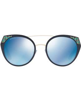 Serpenti Round Sunglasses