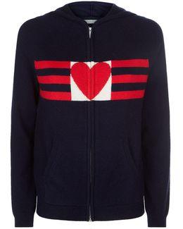Heart And Stripe Hoodie