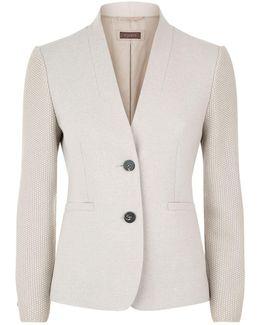 Contrast Sleeve Jacket