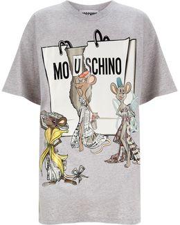 Printed Mlange Oversized T-shirt