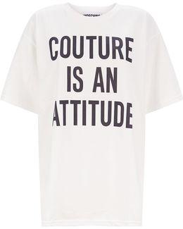 Printed Slogan Oversized T-shirt